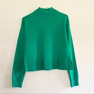 & Other Stories Mock Neck Sweater Wool Blend